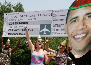 Obama's Birthday Ticket to Copenhagen