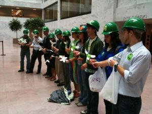 Wind Turbine Assembly Line in Senate Office Building